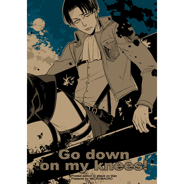 Doujinshi - Shingeki no Kyojin / Erwin x Levi (Go down on my knees!) / MICROMACRO
