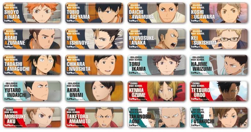 Badge - Haikyuu!! / All Characters(Haikyuu!!) (ハイキュー!! ロング ...