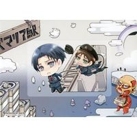Card Stickers - Shingeki no Kyojin / Eren & Levi & Titan