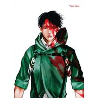 Doujinshi - Illustration book - Shingeki no Kyojin / Levi x Eren (【無料配布本】TAKE FREE) / Que sera sera