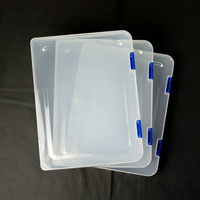 3-Piece Doujinshi Case Set (B5) Clear x Blue