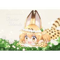 Doujinshi - Illustration book - Kemono Friends / Kaban & Serval (Flower Friends) / ゆきみぱーく
