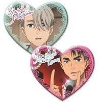 Badge - Yuri!!! on Ice / Victor & JJ