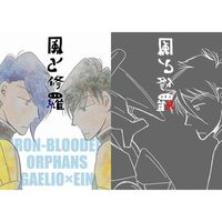 Doujinshi - IRON-BLOODED ORPHANS / Gaelio Bauduin x Ein (風と修羅) / FIRE GANG