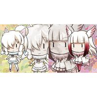Cushion Cover - Kemono Friends / Alpaca & Crested Ibis