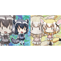 Cushion Cover - Kemono Friends / Common Raccoon & Fennec