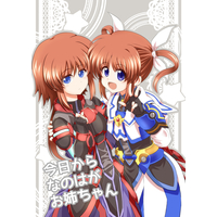 Doujinshi - Magical Girl Lyrical Nanoha / Nanoha & Dearche (今日からなのはがお姉ちゃん) / Cataste