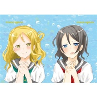 Doujinshi - Illustration book - Love Live! Sunshine!! / Ohara Mari & Watanabe You (onece again) / empty color