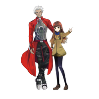 Acrylic stand - Fate/EXTRA / Archer & Kishinami Hakuno & Archer (Fate/Extra)