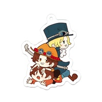 Key Chain - ONE PIECE / Luffy & Ace & Sabo