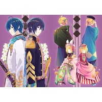 Doujinshi - Illustration book - VOCALOID / KAITO & Rin & Len (あきよしき / 月下推敲 弐) / 由杞