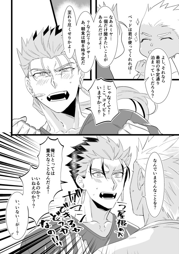 Doujinshi - Fate/Grand Order / Lancer (Fate/stay night) x Archer (Fate/stay night) (White Geranium) / MAHANA