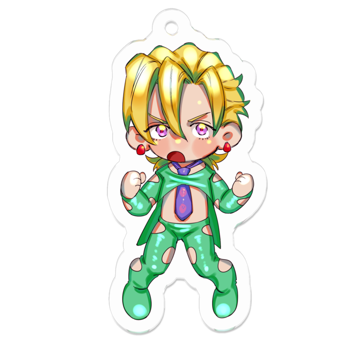 Key Chain - Jojo Part 5: Vento Aureo / Pannacotta Fugo