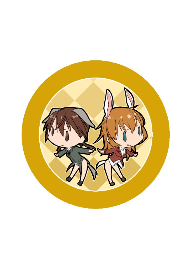 Badge - Strike Witches / Trude & Shirley