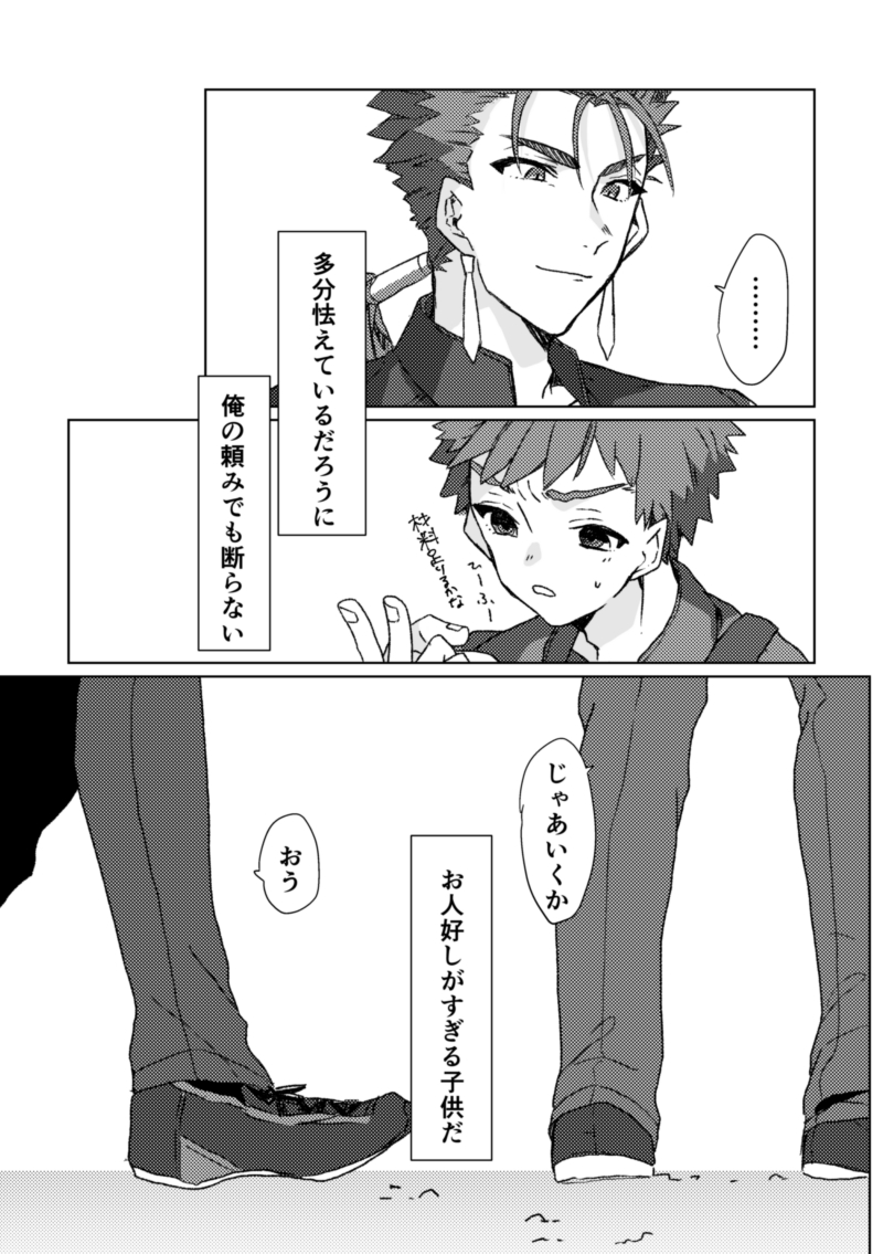 [Boys Love (Yaoi) : R18] Doujinshi - Fate/stay night / Shirou & Lancer (衛宮士郎はNOと言わない) / せいちょーつう