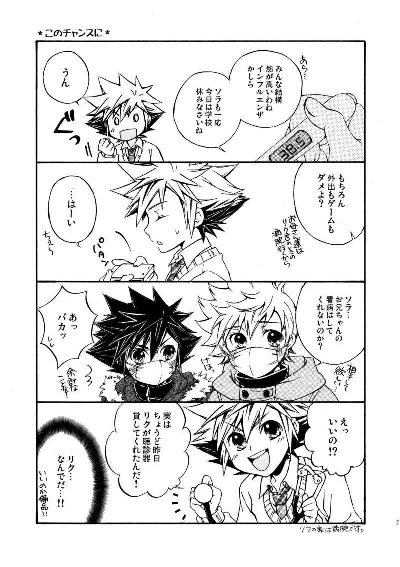 Doujinshi - Novel - KINGDOM HEARTS / Riku x Sora (HappyDays HappyLife!+) / GEILA CAT IN WRO