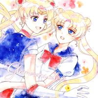 Doujinshi - Illustration book - Sailor Moon / Sailor Moon & Tuxedo Mask (glamorous colors) / 屋根裏アリス