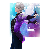 Doujinshi - Illustration book - Yuri!!! on Ice / Victor x Katsuki Yuuri (Practice Magic) / OutLine
