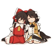 Key Chain - Touhou Project / Reimu & Aya