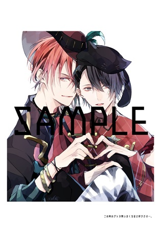 Doujinshi - Illustration book - Tsukipro (Tsukiuta) / Haduki You x Uduki Arata (84-Log-) / 彩菌消毒