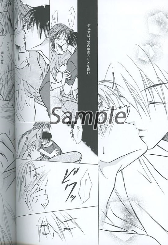 [Boys Love (Yaoi) : R18] Doujinshi - Mobile Suit Gundam Wing / Heero Yuy x Duo Maxwell (What kind of a question is that?) / 台風クラブ