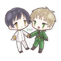 Stickers - Hetalia / United Kingdom & Japan