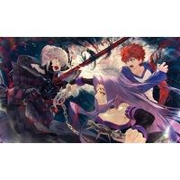 Card Game Playmat - Fate/stay night / Saber & Shirou & Rider & Saber Alter