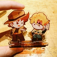 Acrylic stand - Jojo Part 2: Battle Tendency / Caesar & Joseph