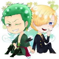 Key Chain - ONE PIECE / Sanji & Zoro