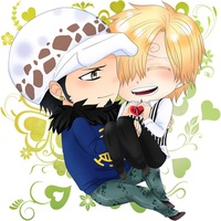 Key Chain - ONE PIECE / Sanji & Law