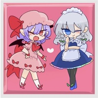 Badge - Touhou Project / Sakuya & Remilia